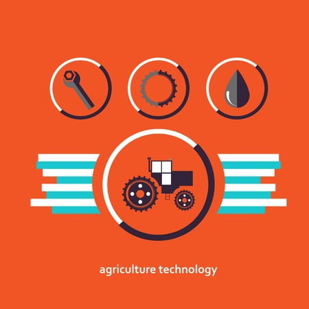 planar: Set of planar vector characters relating to agriculture. Illustration