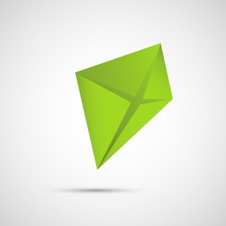 kite: Creative icon kite on a simple background. Illustration