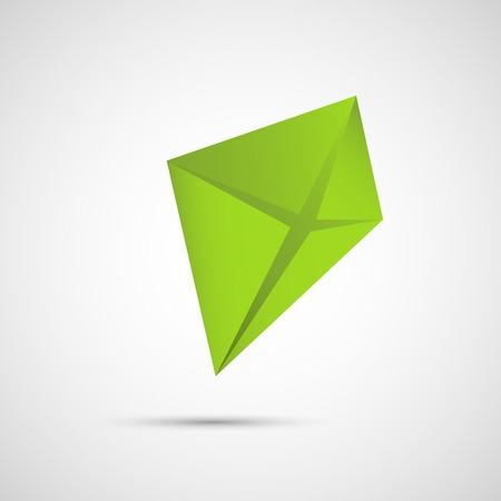 Creative icon kite on a simple background. Illustration