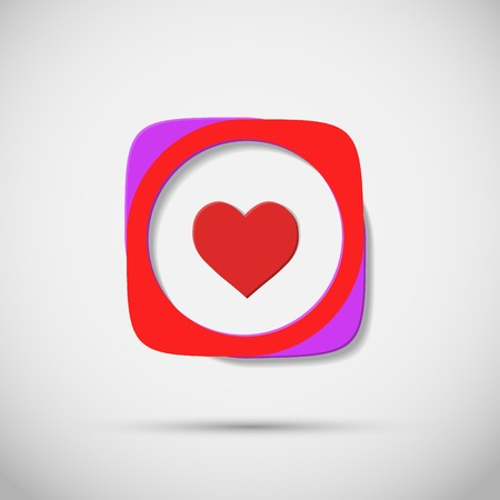 plain background: Creative icon vector hearts on plain background.