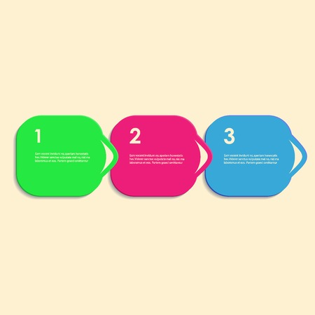 linkage: Abstract color vector shapes for your infographics. Illustration
