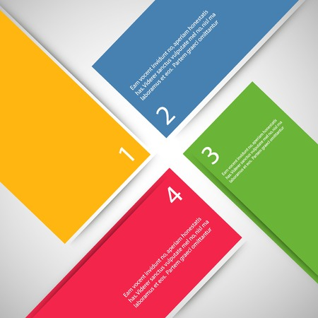 blank space: Large colored boxes with blank space for text. Illustration