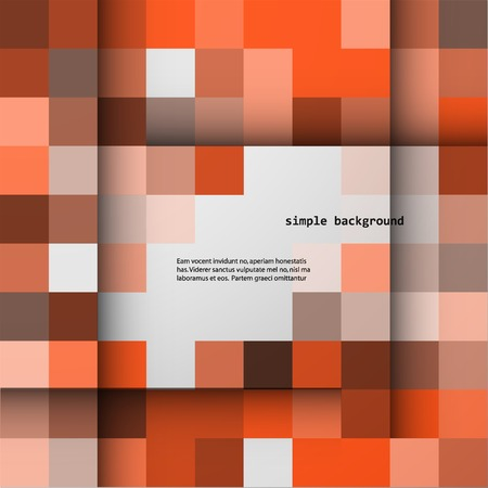 simple background: Simple background of colored squares and shadows.