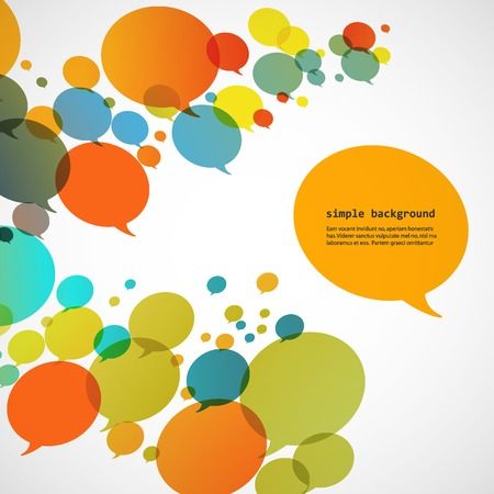 interaccion social: Fondo creativo de burbujas coloridas del discurso eps.