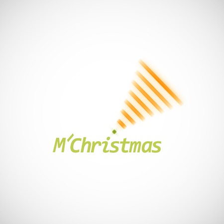 simple background: Christmas tree icon on a simple background.