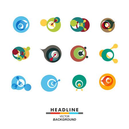 Vector abstract DNA molecule color design icon.