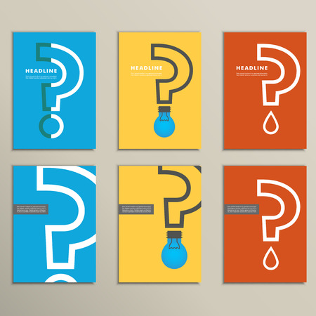 question concept: Flat  question mark with a light bulb. Illustration