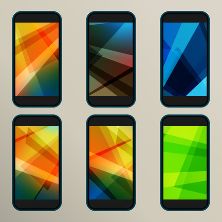 savers: Set of abstract vector savers for screens. Illustration