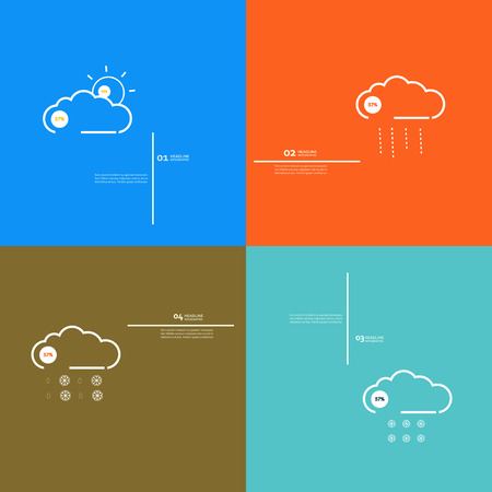sleet: Set icons indicate weather clear, cloudy, rain, snow.
