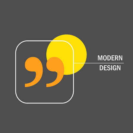 cite: Modern vector design with quote text bubble.