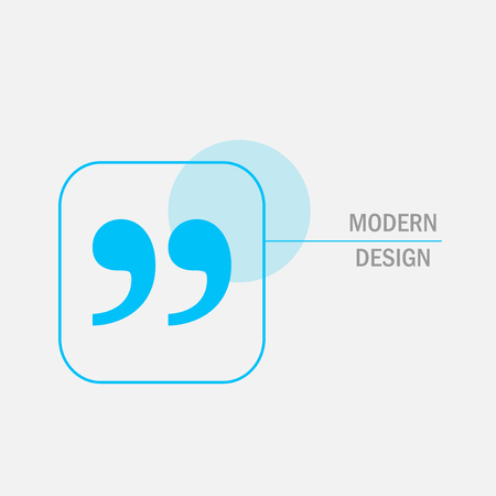 citing: Modern vector design with quote text bubble.