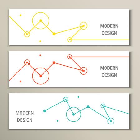 Molecule design template banner. Kan gebruikt worden voor het werk lay-out, diagram, aantal opties, web.