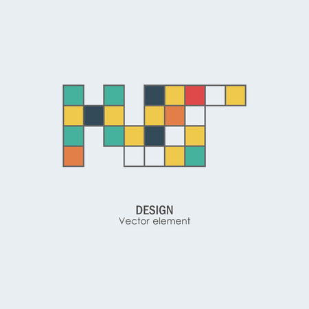 tetris: Game tetris square template. Brick game pieces.