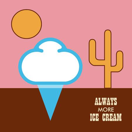 Icon ice cream isolated on white background. Illustration