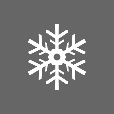 christmas snowflakes: Icon Christmas snowflakes for holiday season.
