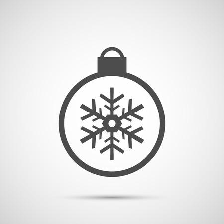 copo de nieve: Icono juguete copos de nieve de Navidad para la temporada de vacaciones.