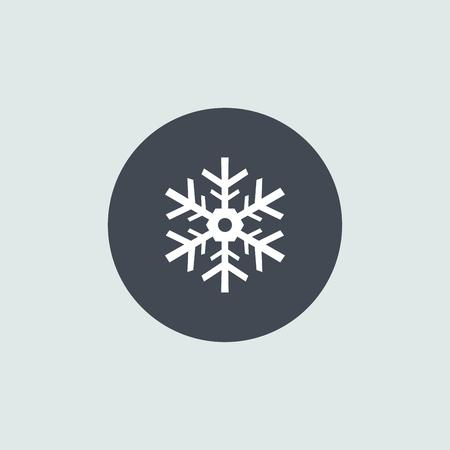 Icon Christmas snowflakes for holiday season.