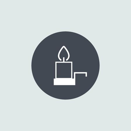 christmas candle: Icon Christmas candle for holiday season.