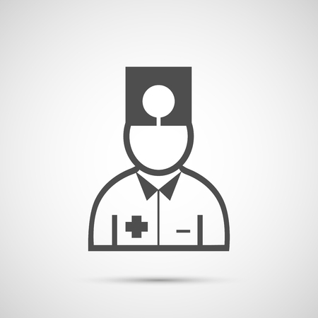 nursing clothes: People vector design. Icon doctor.