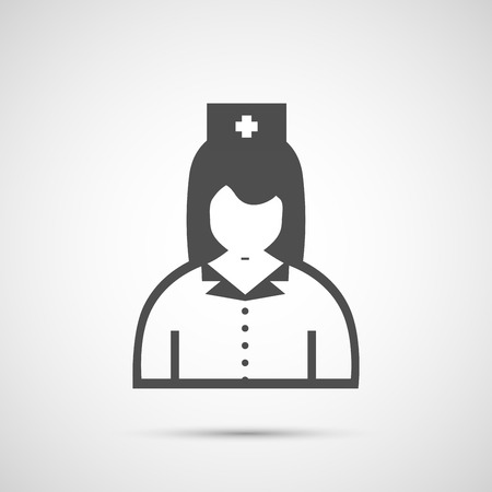 surgeons hat: People vector design. Icon doctor.