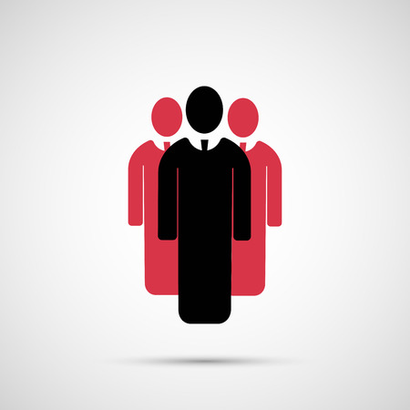 group work: People vector design. 3 man icon.