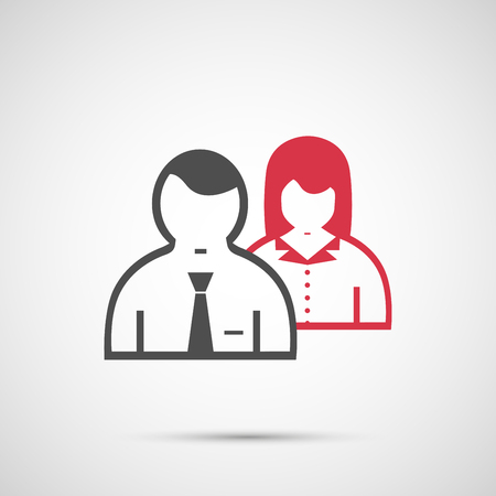 urban planning: People vector design. Man and woman icon. Illustration