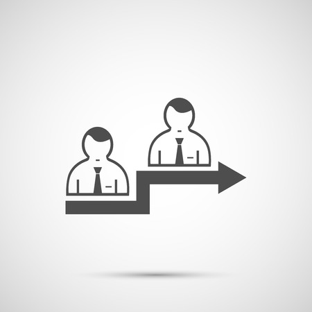 two friends talking: People vector design. 2 man icon.