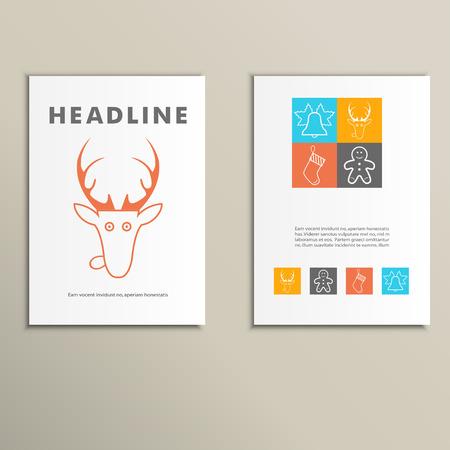 title emotions: Set of Christmas templates Illustration