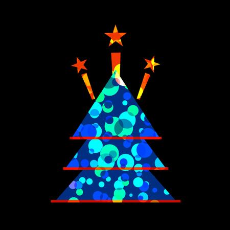 the season: Icon Christmas tree for holiday season.