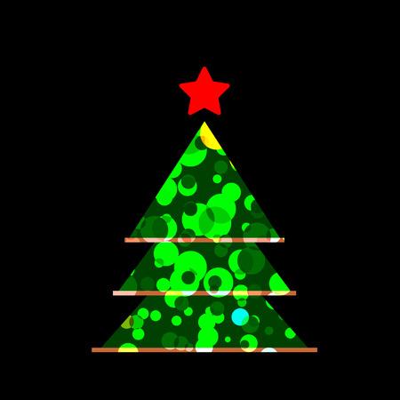 holiday season: Icon Christmas tree for holiday season.