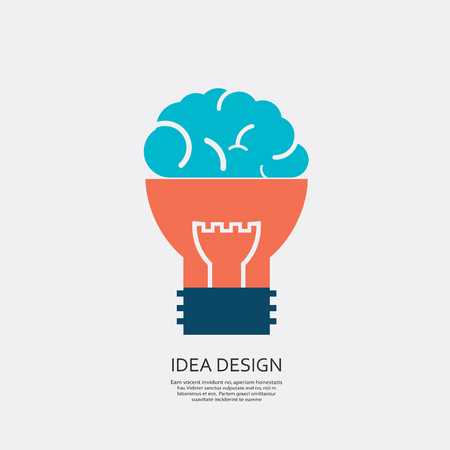 innovator: Vector abstract bulb