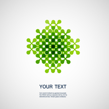 Vector creative technology and molecule icon eps10.
