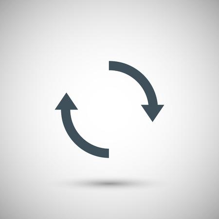 turning point: Blue vector arrow Illustration