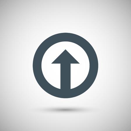 orientation marker: Blue vector arrow Illustration