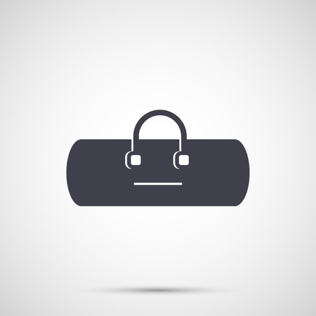 handles: Sport bag with handles icon. Illustration