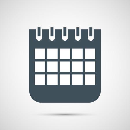 calendar isolated: Vector calendar isolated on white background. Illustration