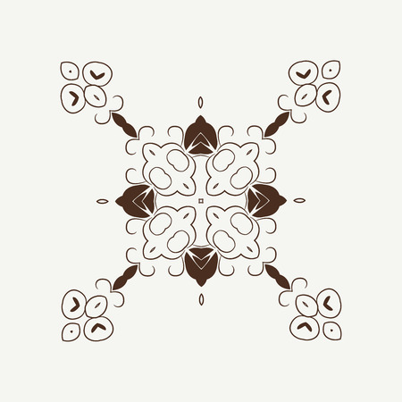 Vector ornamental white background with oriental pattern style. Illustration
