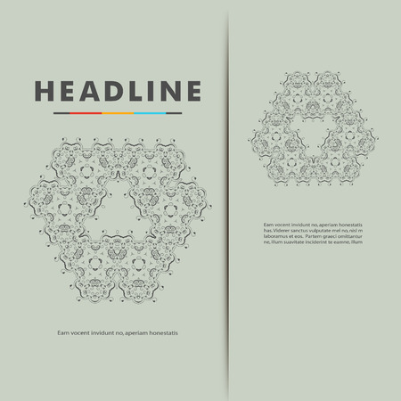 Vector set with abstract pattern. Illustration