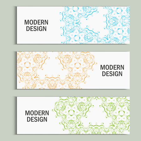 modernism: Vector set with abstract pattern. Illustration