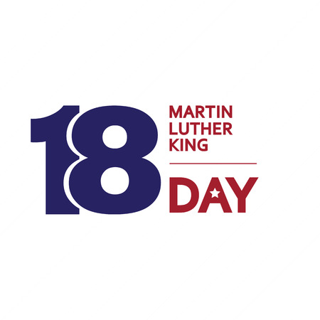 rey: Día de Martin Luther King. Ilustración del vector.