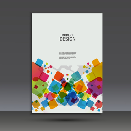 manual: Vector brochure design layout template in A4.
