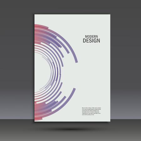 installer: Vector color line twirl design. Cover template. Illustration