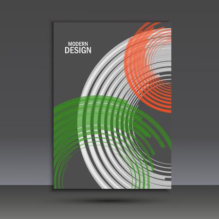 Vector color line twirl design. Cover template. Illustration