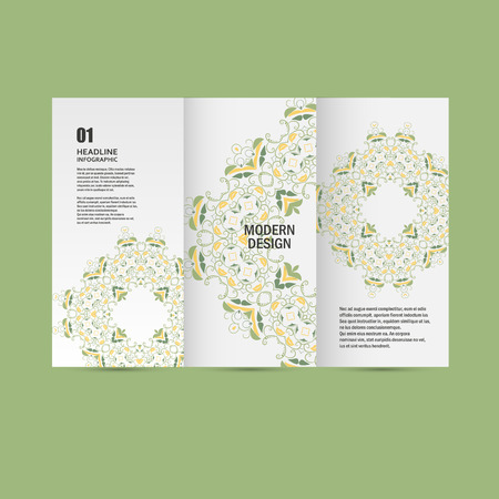 Vector pattern beautiful pattern on printed product. Design for books, banners, pages advertising. Illustration
