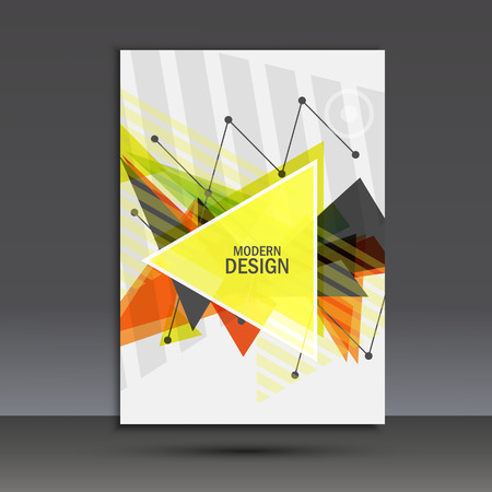 composition book: Light book cover. Abstract vector composition of triangles for printing books, brochures, leaflets.