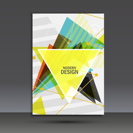 Light book cover. Abstract vector composition of triangles for printing books, brochures, leaflets.