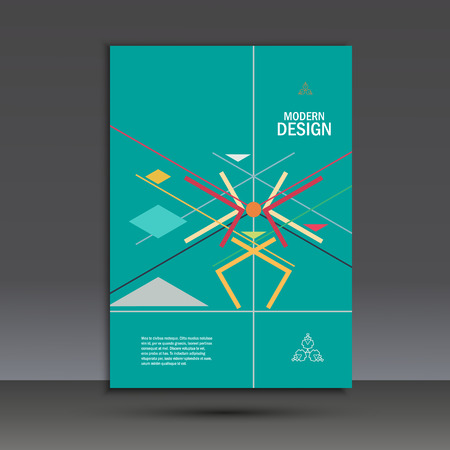 report cover design: Templates geometric abstract design in A4. Modern vector background.