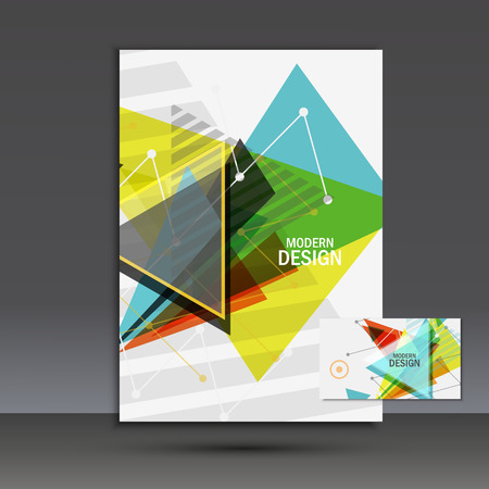 leaflets: Light book cover. Abstract vector composition of triangles for printing books, brochures, leaflets.