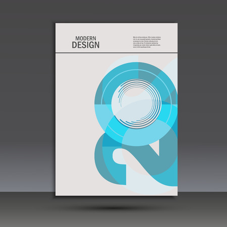 Vector design 20 years anniversary. Cover template.