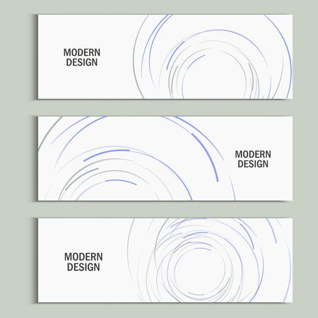 descriptive: Vector abstract swirl set. Design background. Illustration
